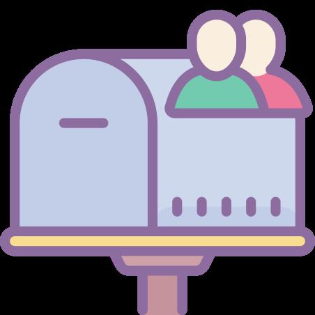 공유 사서함 icon in Cute Color