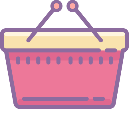Shopping Basket icon in Cute Color