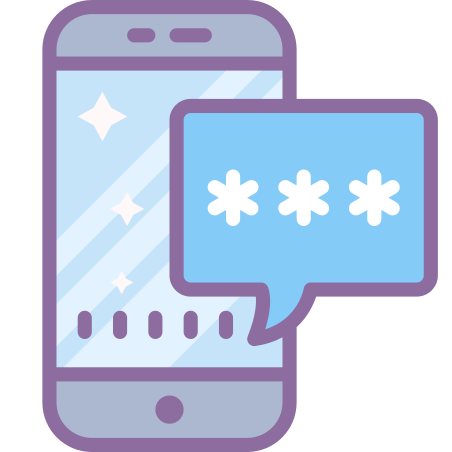 Authentication icon in Cute Color