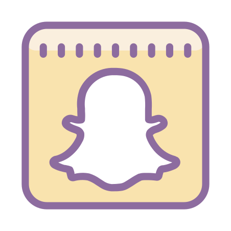 Snapchat icon in Cute Color
