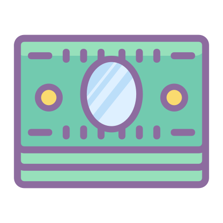 Stack of Money icon in Cute Color