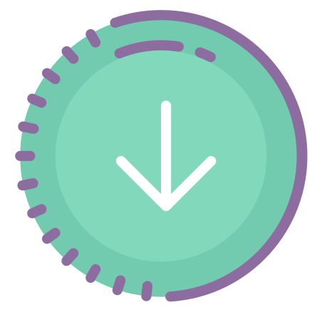 Submit Progress icon in Cute Color