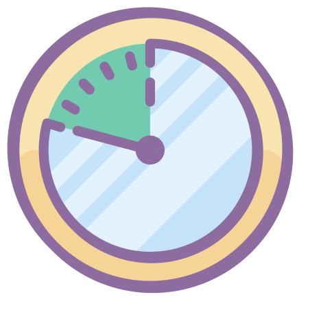Time Span icon in Cute Color