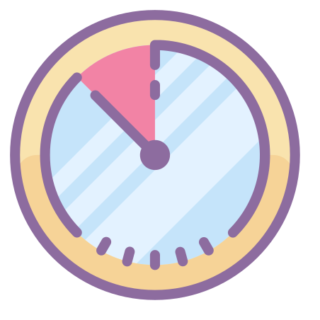 Timer icon in Cute Color