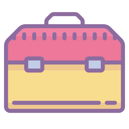 Toolbox icon in Cute Color