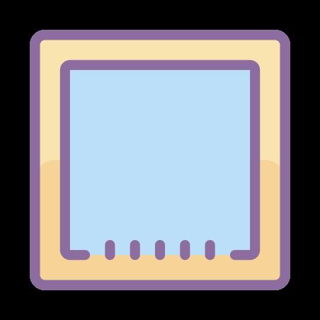 체크되지 않은 체크 박스 icon in Cute Color