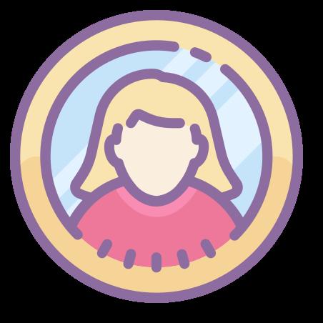 Female Profile icon in Cute Color