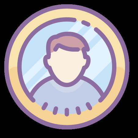 Male User icon in Cute Color