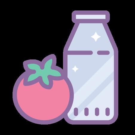 Vegetarian Food icon in Cute Color