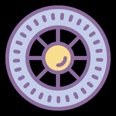 Wheel icon in Cute Color