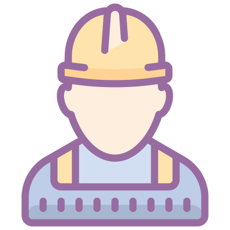 Worker icon in Cute Color