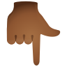 Backhand Index Pointing Down Medium Dark Skin Tone icon