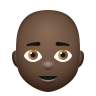 Bald Man Dark Skin Tone icon