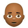 Bald Man Medium Dark Skin Tone icon