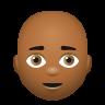 Bald Man Medium Dark Skin Tone icon