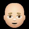 Bald Man Medium Light Skin Tone icon