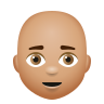 Bald Man Medium Skin Tone icon