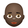 Bald Woman Dark Skin Tone icon
