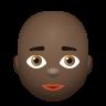 Bald Woman Dark Skin Tone icon