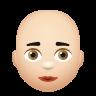 Bald Woman Light Skin Tone icon