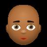 Bald Woman Medium Dark Skin Tone icon