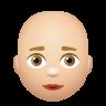 Bald Woman Medium Light Skin Tone icon