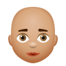 Bald Woman Medium Skin Tone icon