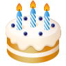 Birthday Cake Emoji icon
