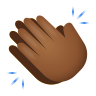 Clapping Hands Medium Dark Skin Tone icon