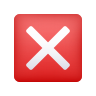 Cross Mark Button icon