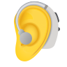 Ear With Hearing Aid icon