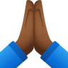 Folded Hands Medium Dark Skin Tone icon