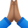Folded Hands Medium Skin Tone icon