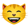 Grinning Cat With Smiling Eyes icon