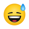 Grinning Face With Sweat icon