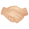 Handshake Light Skin Tone icon