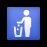 Litter In Bin Sign icon