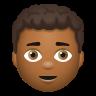 Man Curly Hair Medium Dark Skin Tone icon