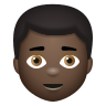Man Dark Skin Tone icon