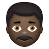 Man With Mustache Dark Skin Tone icon
