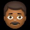 Man With Mustache Medium Dark Skin Tone icon
