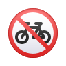 No Bicycles icon