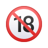 No One Under Eighteen Emoji icon