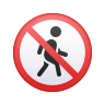 No Pedestrians icon