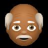 Old Man Medium Dark Skin Tone icon