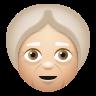 Old Woman Medium Light Skin Tone icon