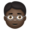 Older Person Dark Skin Tone icon