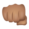 Oncoming Fist Medium Skin Tone icon