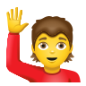 Person Raising Hand icon