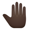 Raised Back Of Hand Dark Skin Tone icon